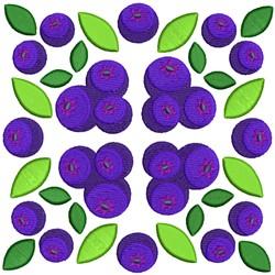 Fruit Quilt Block - Grapes Squares embroidery design
