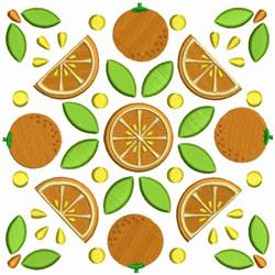 Fruit Quilt Block - Orange Squares embroidery design
