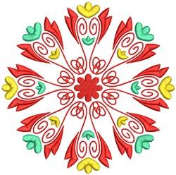 Cute Floral Mandala Pattern embroidery design