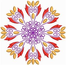 Creative Floral Mandala embroidery design