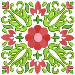 Flower Quilt Block embroidery design