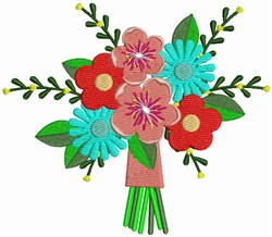 flower bouquet embroidery design