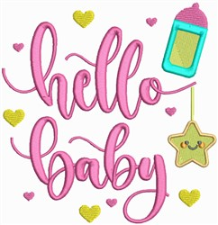 Hello Baby embroidery design