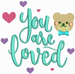 You Are Loved embroidery design