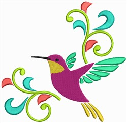 Flying Bird Border embroidery design