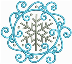 Snow Swirls Corner and Border 1 embroidery design