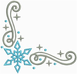 Snow Swirls Corner and Border 4 embroidery design