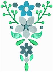 Blue Flower Bookmark embroidery design