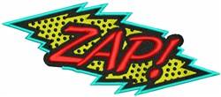 Zap! embroidery design