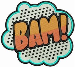 Bam! embroidery design