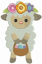 Easter Sheep embroidery design