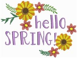 Hello Spring embroidery design