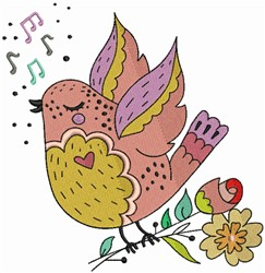 Singing Bird embroidery design