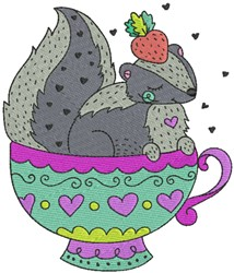 Squirrel in a Cup embroidery design
