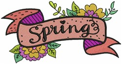 Spring Banner embroidery design