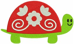 Turtle Shell with floral Decoration embroidery design