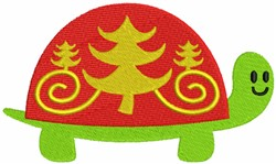 Turtle Shell with Christmas Ornament embroidery design