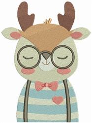 Hipster Deer embroidery design