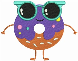 Donut Sunglass embroidery design