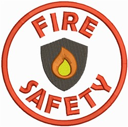 Fire Safety Logo embroidery design