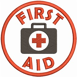First Aid Logo embroidery design