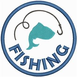 Fishing Logo embroidery design