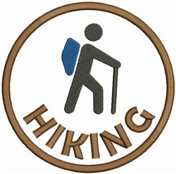 Hiking Logo embroidery design