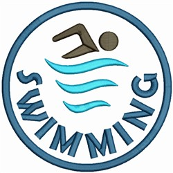 Swimming Logo embroidery design