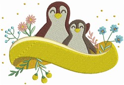 Penguin Family embroidery design