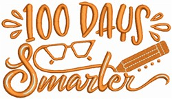 100 Days of School embroidery design