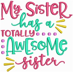 Awesome Sisters embroidery design