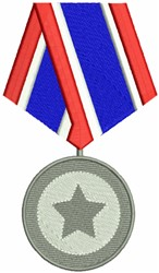 Army Medal embroidery design