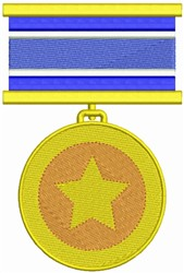 Military Medal embroidery design