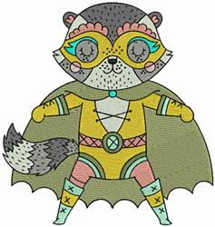 Superhero Cat embroidery design