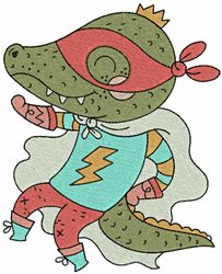 Superhero Croc embroidery design