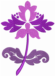 Purple Flower embroidery design