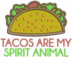 Taco Spirit Animal embroidery design