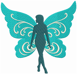 Butterfly Wing Fairy embroidery design