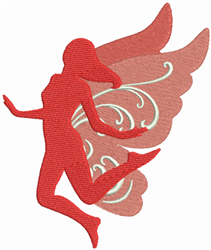 Winged Fairy embroidery design