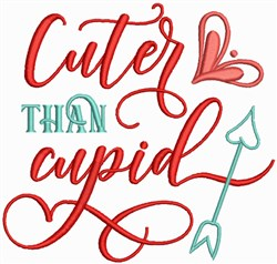 Cuter Than Cupid embroidery design
