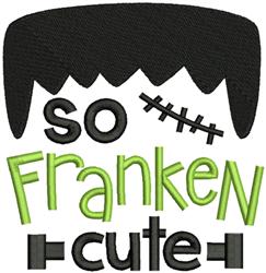 So Franken Cute embroidery design