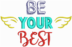 Be Your Best embroidery design