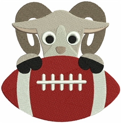 Rams Football embroidery design