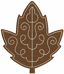 Brown Leaf embroidery design