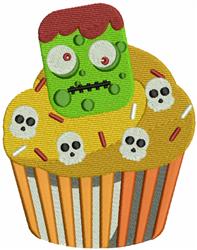 Frankenstein Cupcake embroidery design
