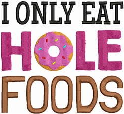 Hole Foods embroidery design