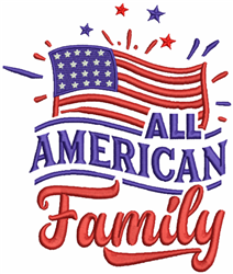 All American Family embroidery design