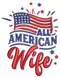All American Wife embroidery design
