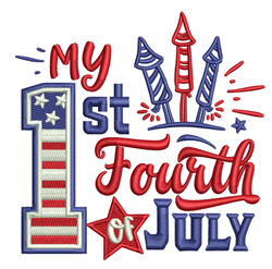 1st Fourth Of July embroidery design