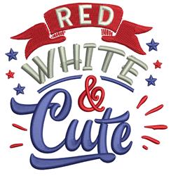 Red White & Cute embroidery design